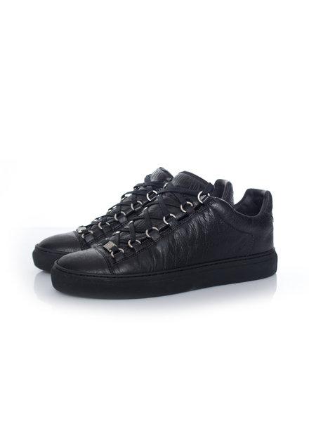Balenciaga Balenciaga, Black leather Arena sneakers in size 39.