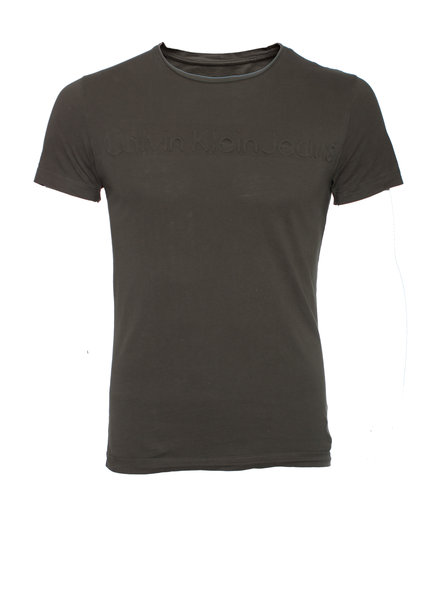 Calvin Klein Calvin Klein, Green T-shirt with embossed logo in size S.