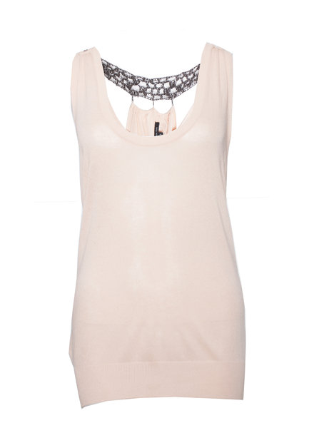Patrizia Pepe Patrizia Pepe, Pink top with metal beads on the back in size 1/S.
