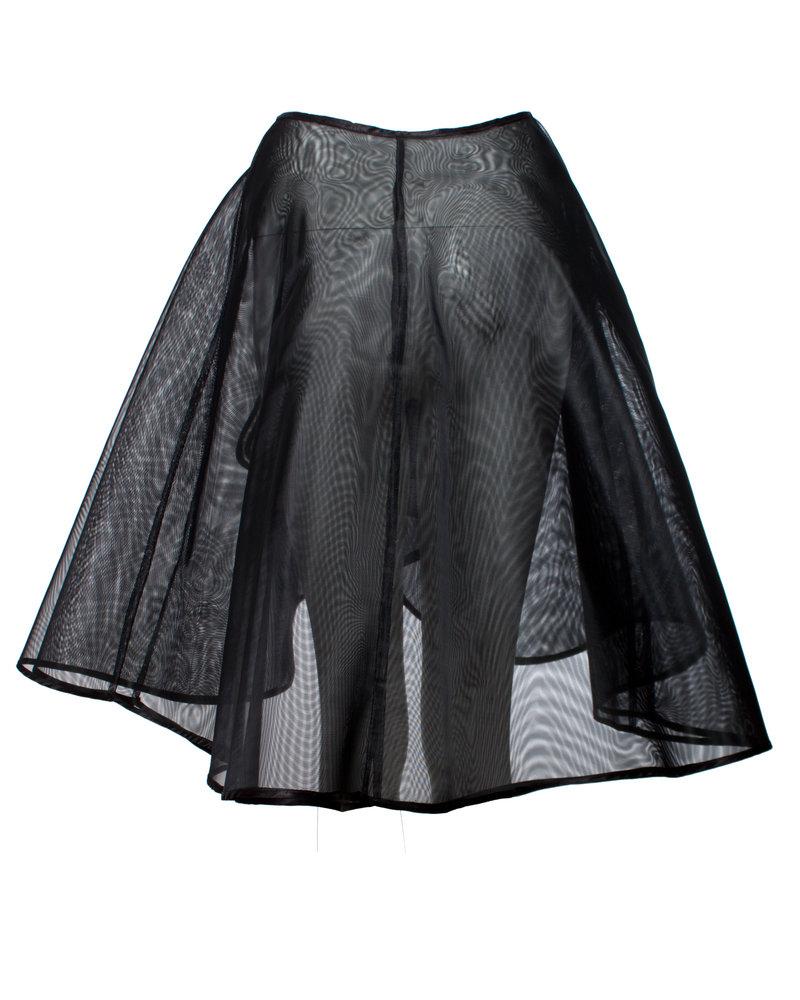 Alexander McQueen Alexander McQueen, Black wrap-around tule skirt in size S.