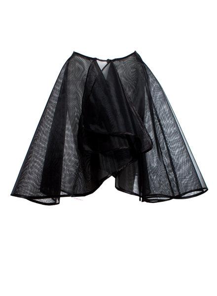 Alexander McQueen Alexander McQueen, zwarte omslag tule rok in maat S.