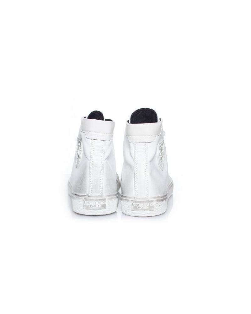 Saint Laurent Saint Laurent, Bedford leather high-top sneakers in size 41.
