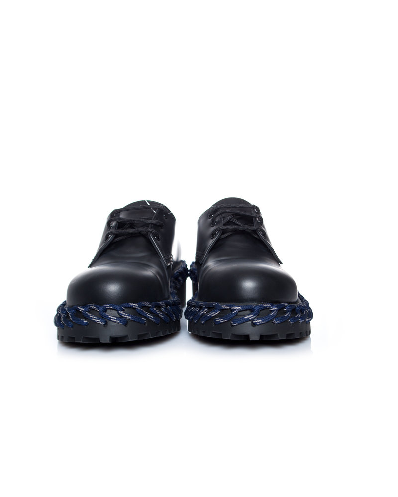 Balenciaga Balenciaga, Derby rope lace leather shoes in size 40.