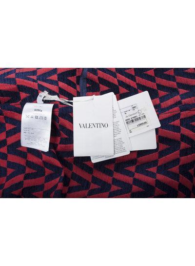 Valentino Valentino, V-Logo Brocade Coat in size IT40/S.
