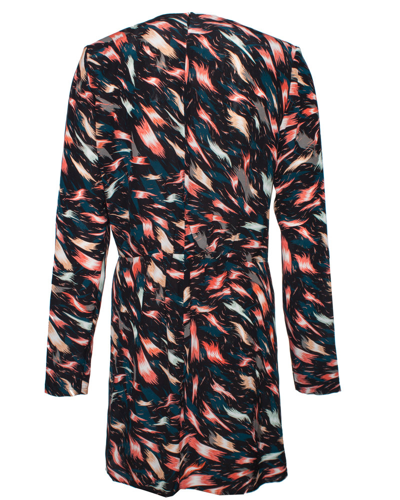 Givenchy Givenchy, Multicolored assymetric draped silk dress.