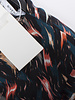 Givenchy, Multicolored assymetric draped silk dress in size DE38/M.