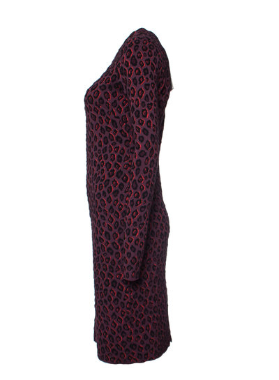 Givenchy Givenchy, Aubergine colored leopard print dress in size S.