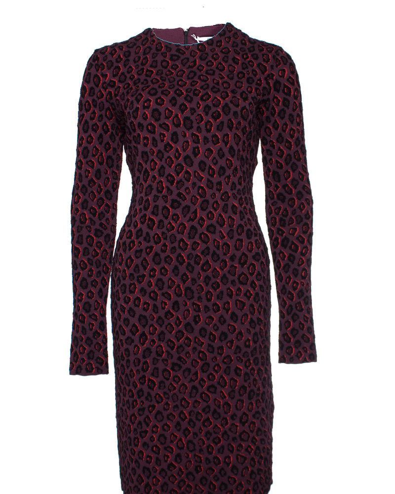 Givenchy Givenchy, Aubergine colored leopard print dress.