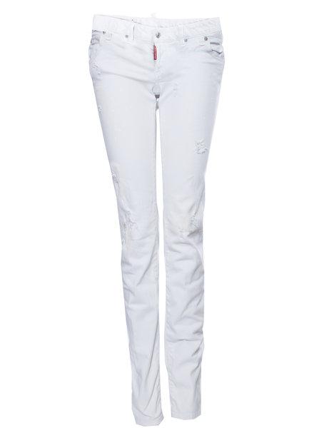 Dsquared2 Dsquared2, off-white jeans met gevlekt effect in maat IT40/XS.