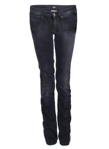 Dolce & Gabbana Dolce & Gabbana, zwarte nauwsluitende jeans in maat 25/XXS.