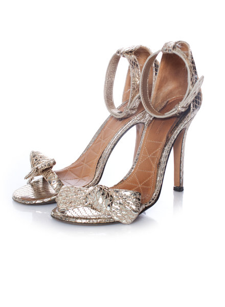 Isabel Marant Isabel Marant, Metallic sandals with bow on the nose in size 37.