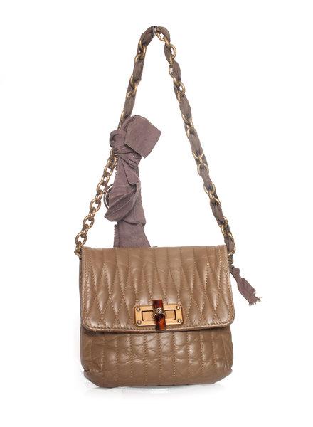 Lanvin Lanvin, Vintage brown leather shoulder bag.