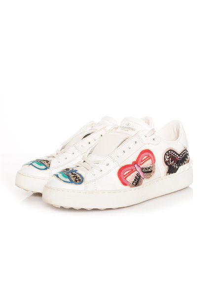 Valentino Valentino, Embellished butterfly sneakers in size 36.