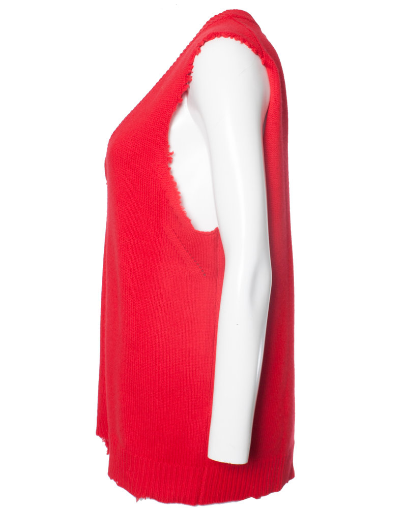 Zadig & Voltaire Zadig & Voltaire, red sleeveless wool top in size XS.