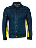 Diesel Diesel, Blue denim jacket with yellow stripes in size S.