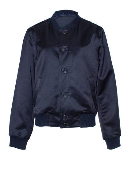 YMC, Blue shiny baseball/bomber jacket in size M.