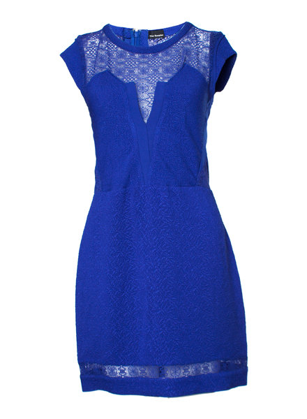 The Kooples The Kooples, Electric blue dress with semi-transparent sections in size M.