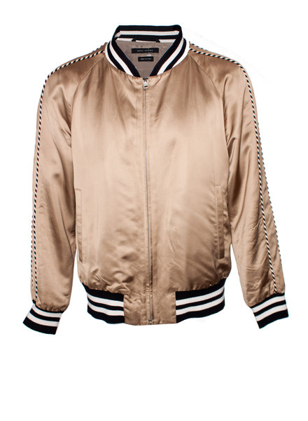 Marc Jacobs Marc Jacobs, Champagne colored bomber jacket in size IT52/XL.