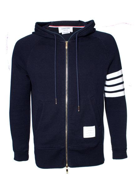 Thom Browne, hoodie met rits in maat 3/L.