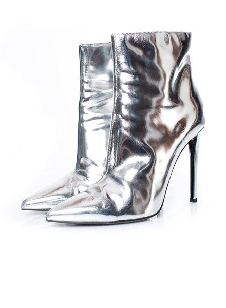 Balenciaga Balenciaga, Mirrored-leather ankle boots in size 39.