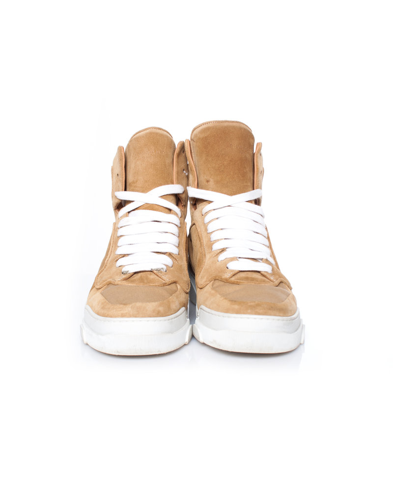 Givenchy Givenchy, bruine Tyson lederen high-top sneakers in maat 39.