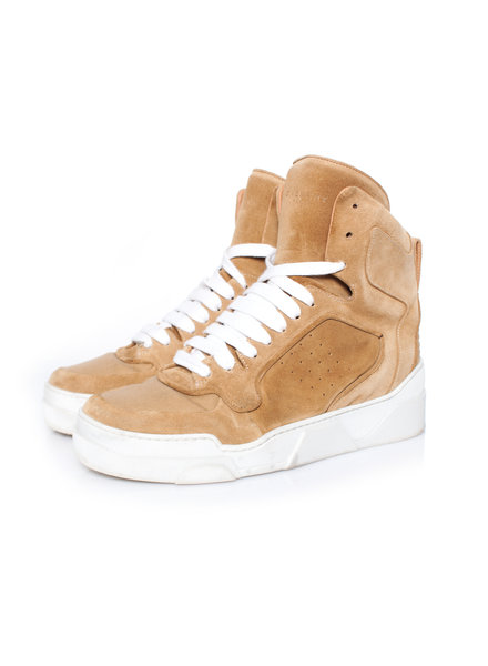 Givenchy Givenchy, Brown Tyson leather High-Top sneakers in size 39.