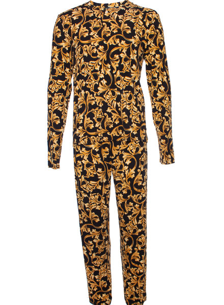 Gianni Versace Versace, Homewear in black/gold with ornamental print in size 5/L.