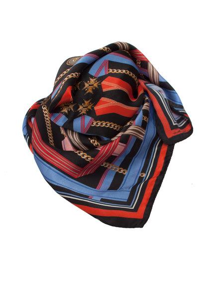 Elisabetta Franchi Elisabetta Franchi, multikleurige zijde shawl.