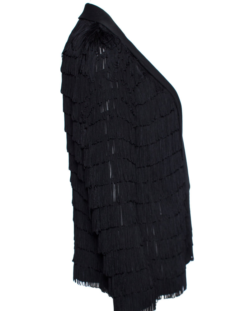 Undercover, semi-transparent jacket with fringes in size 4/L.