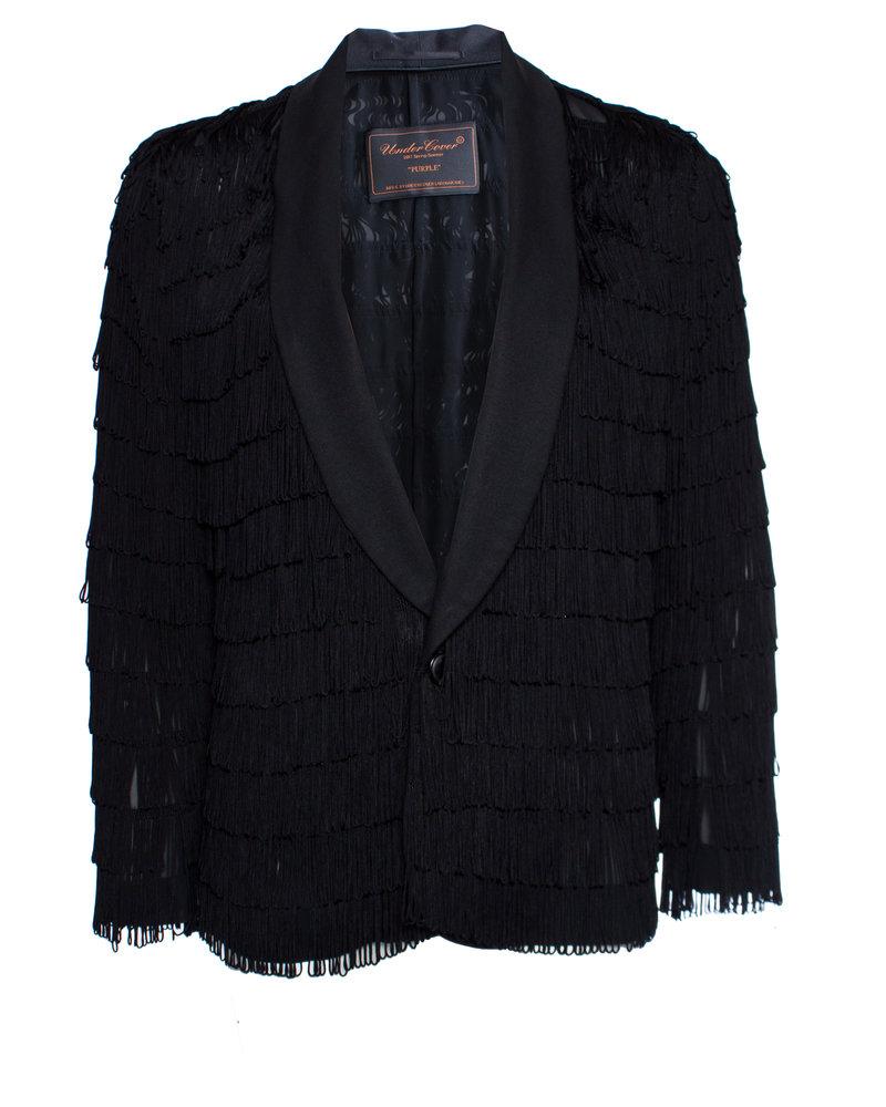 Undercover, semi-transparant jasje met franjes in maat 4/L.