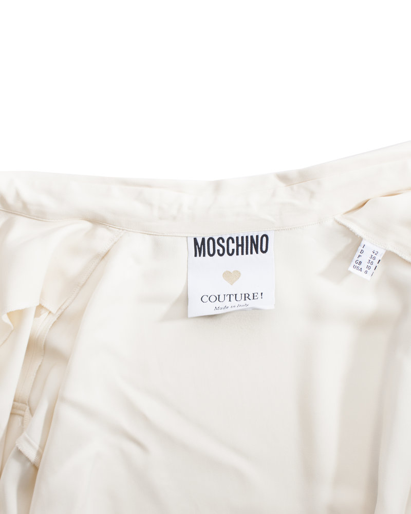 Moschino Moschino Couture, Vintage Roomkleurige bloes in maat IT42/S.