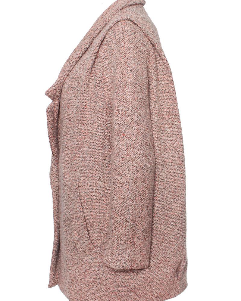 Bimba & Lola, roze oversized boucle jas in maat S.