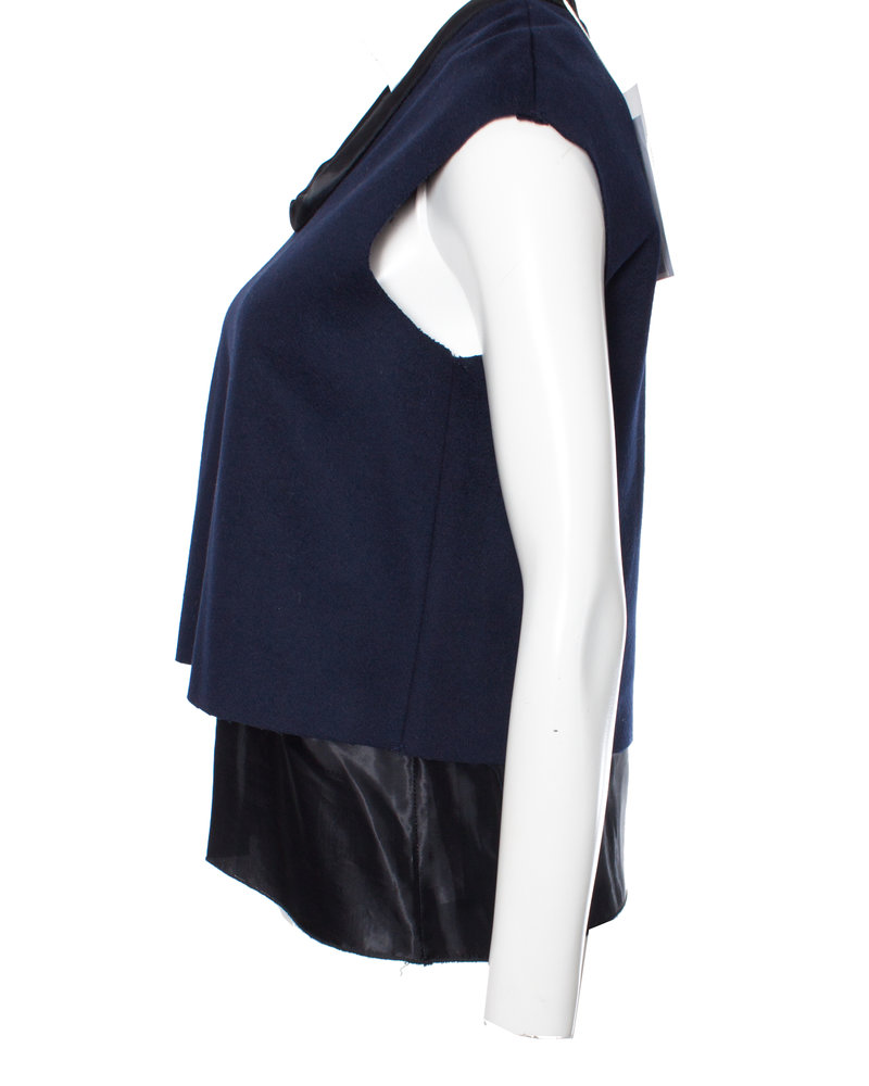 Acne Acne, dubbellaagse wollen top in maat 36/S.