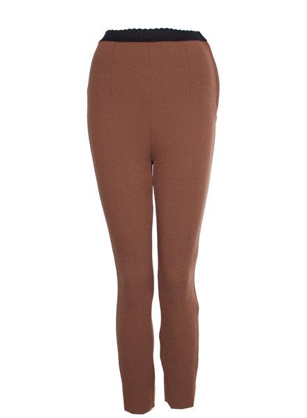 Dolce & Gabbana Dolce & Gabbana, Bruine broek met elastieke band in maat IT40/XS.