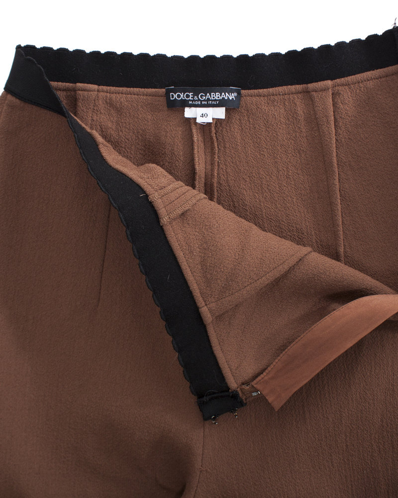 Dolce & Gabbana Dolce & Gabbana, Brown trousers with elastic band.