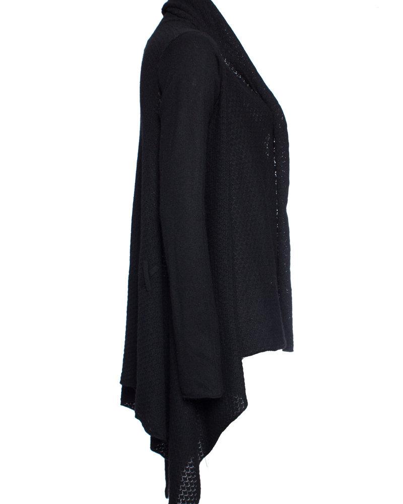 Zadig & Voltaire Zadig & Voltaire, black cashmere cardigan in size U/one size.