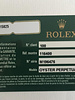 Rolex Milgauss, 116400 Oyster Perpetual roestvrijstalen horloge met zwarte wijzerplaat en groen kristal.