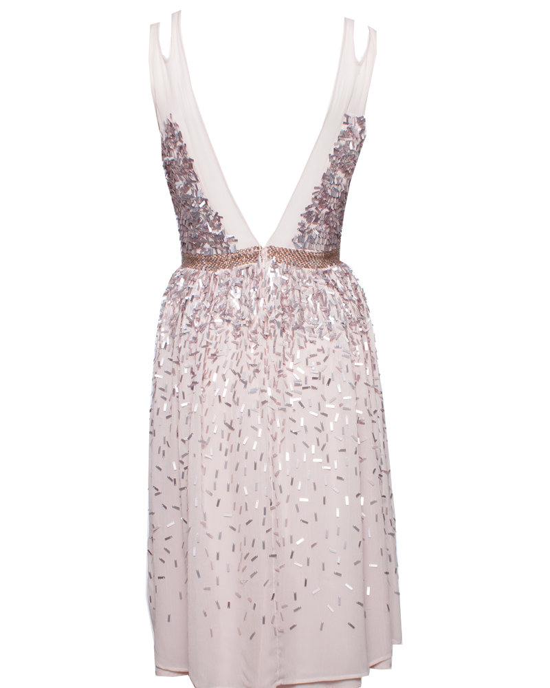 French Connection French Connection, Pink dress with sequins in size UK10/M.