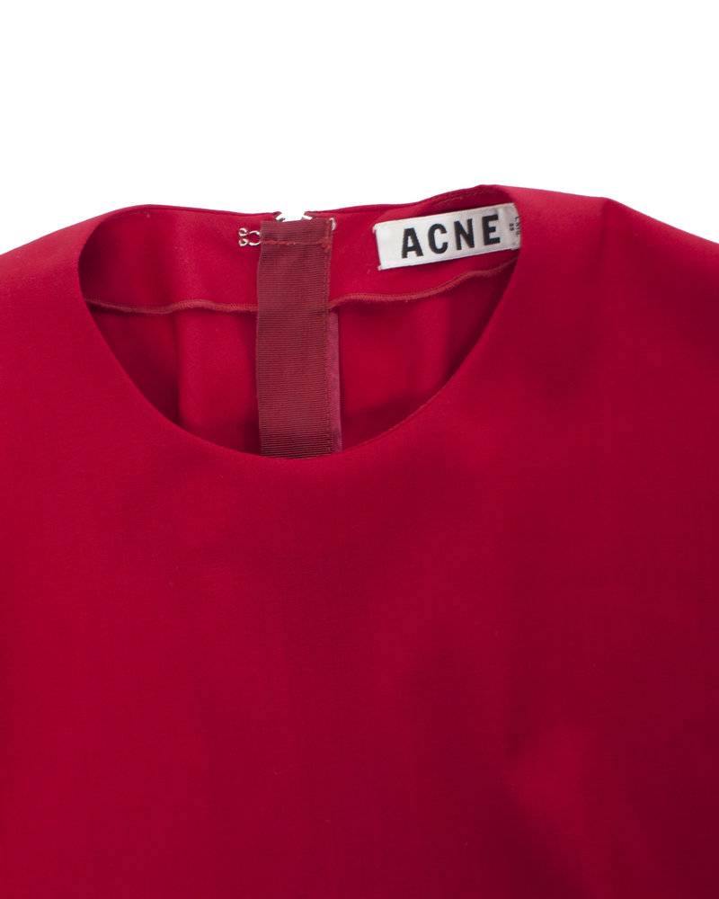 Acne Acne, Rode top in maat 36/S.