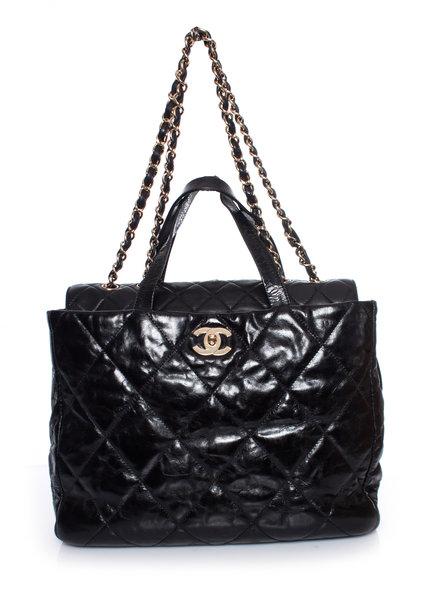 Chanel Chanel, geglazuurde kalfsleer portobello-tas.
