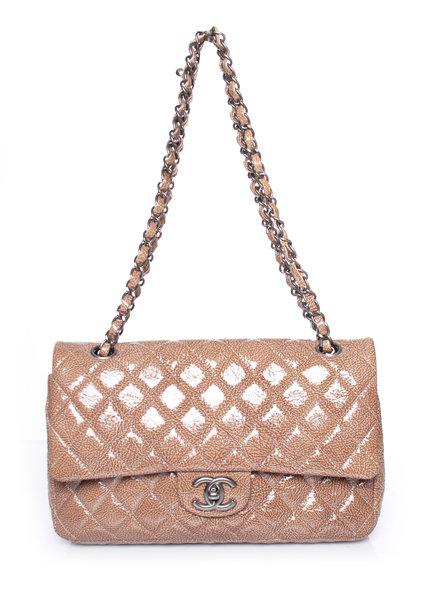 Chanel Chanel, laklederen Classic Medium dubbele flap tas