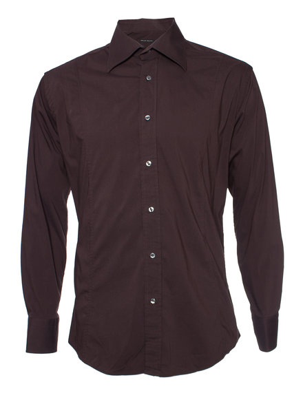 Brian Dales, Brown shirt in size 17/43 (XXL).