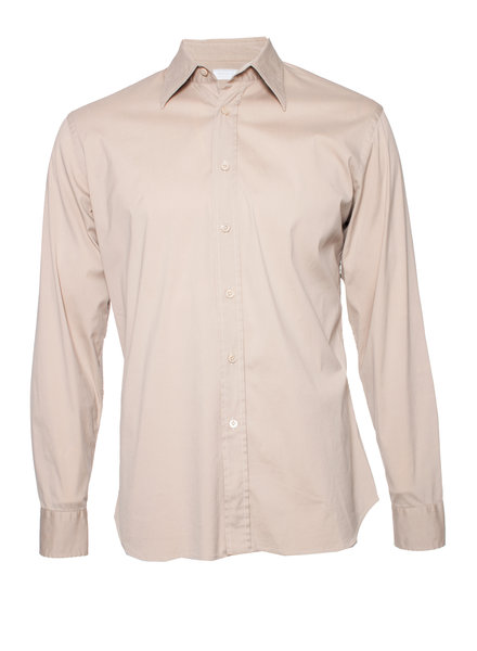 Prada Prada, Camel coloured shirt in size 40/ 15.5 (M).