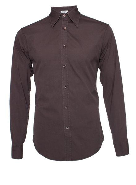 Yves Saint Laurent Yves Saint Laurent, Brown shirt in size 40-15 1/4 (M).