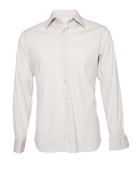 Prada Prada, beige shirt in size 40-15 3/4 (M).