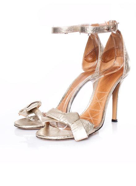 Isabel Marant Isabel Marant, goud lederen sandalen met strik.