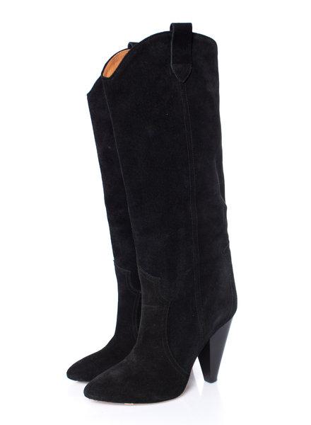 Isabel Marant Etoile Isabel Marant Etoile, black Runa Suede knee  boots.