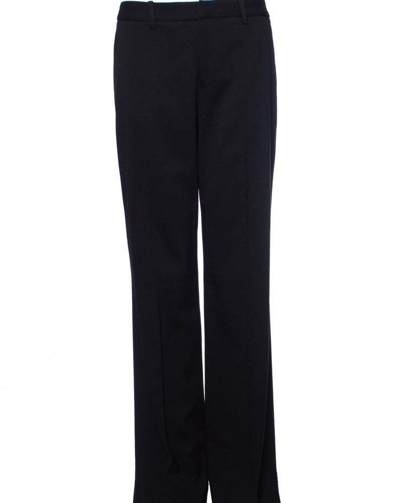 Suistudio Suistudio, zwarte wijd uitlopende wollen pantalon broek in maat 38/M.