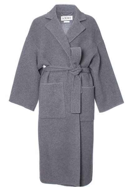 Loewe Loewe, Oversized Belted Wool And Cashmere-blend Coat in size XS.