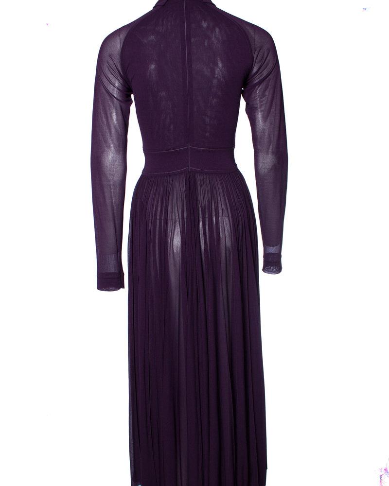 Celine Celine, maxi wijd uitlopende jurk.